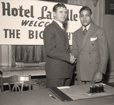 James Braddock and Joe Louis Shaking Hands